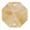 Preciosa Connector Oct. 2611 18mm Honey